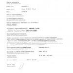 Certifikát STACIMA 001